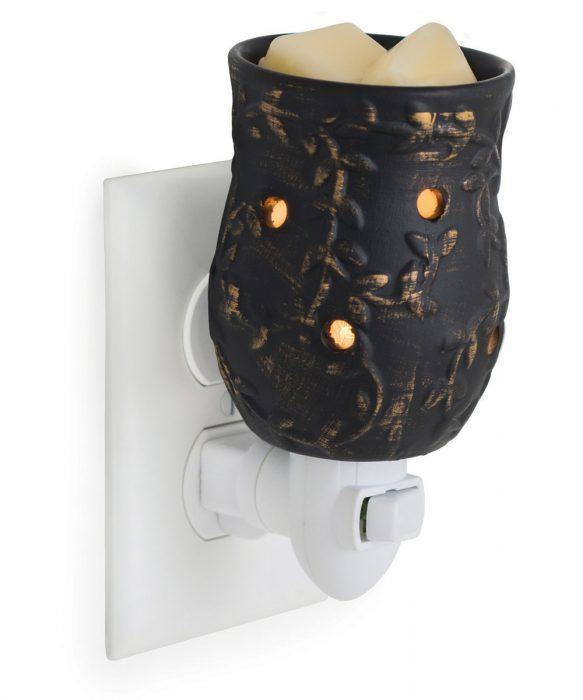 Plug In Fragrance Warmer Floral Black