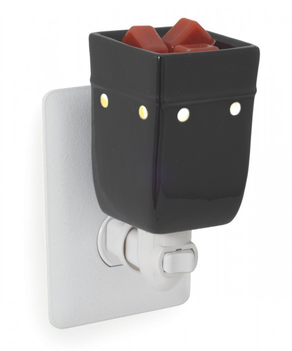 Black plug-in fragrance warmer