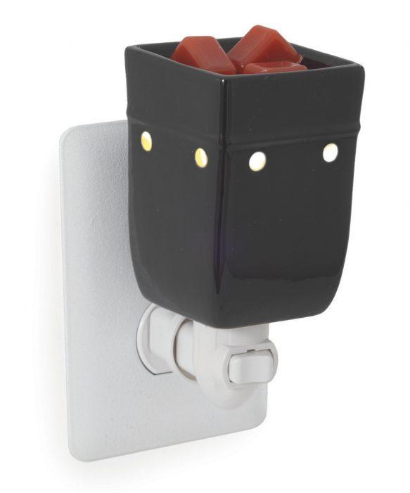 Black plug-in fragrance warmer
