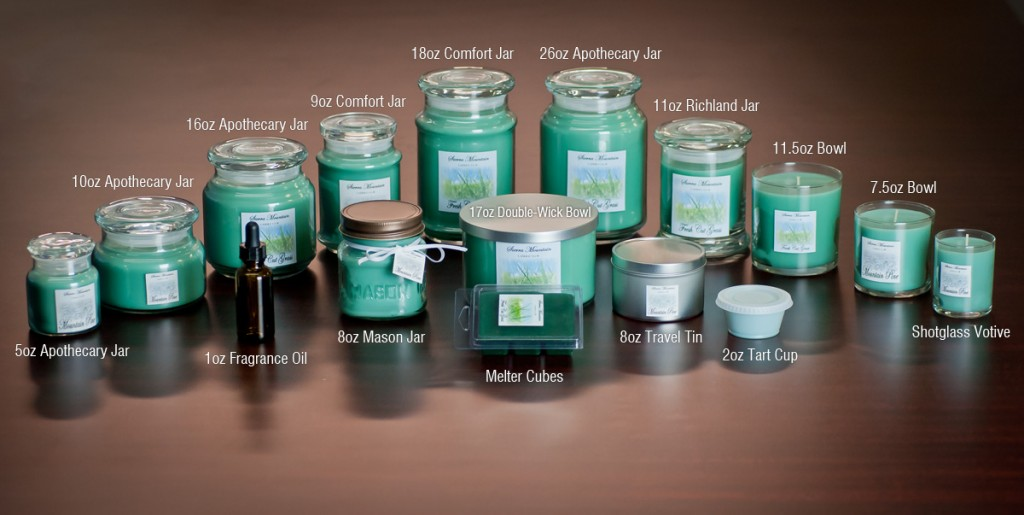 Sierra Mountain Candle Co Candle Line Up