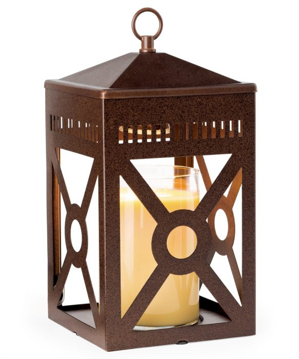 Mission Top Down Candle Warmer - Rustic Brown