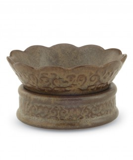 Ceramic Candle Warmer Dish - Rustic Brown